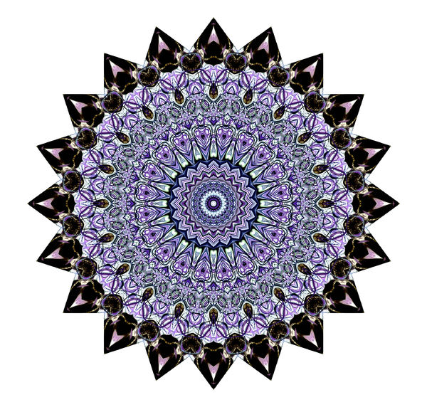 amethyst multi-point mandala: abstract background, texture, patterns and perspectives