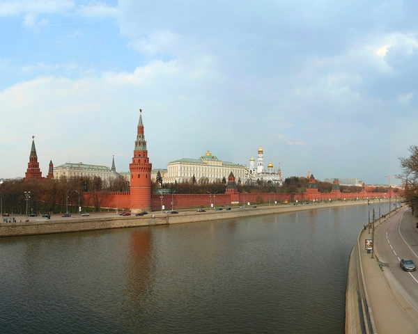 Moscow river in spring