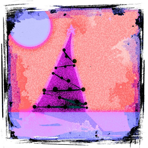 Merry Grungy Christmas 2: A fun, grungy fantasy Christmas tree scene. You may prefer:  http://www.rgbstock.com/photo/2dyVQYr/Abstract+Christmas+Tree  or:  http://www.rgbstock.com/photo/2dyX1qj/Christmas+Tree+Blue