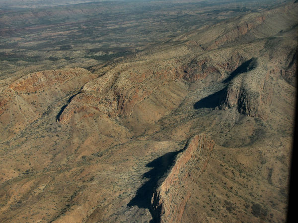inland terrain12: central Australian terrain seen from above