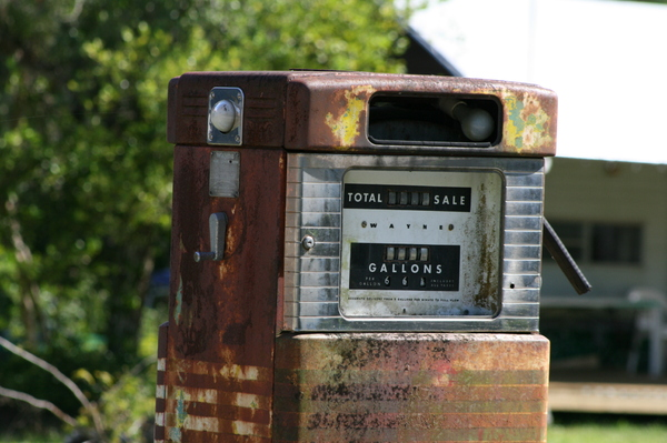 old gas pump 4: old gas pump