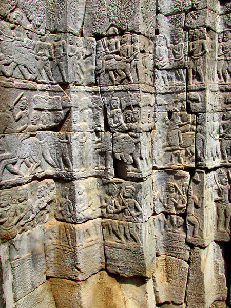 stories in stone8: epic battle stories carved onto walls at Cambodia's Angkor Wat temple complex