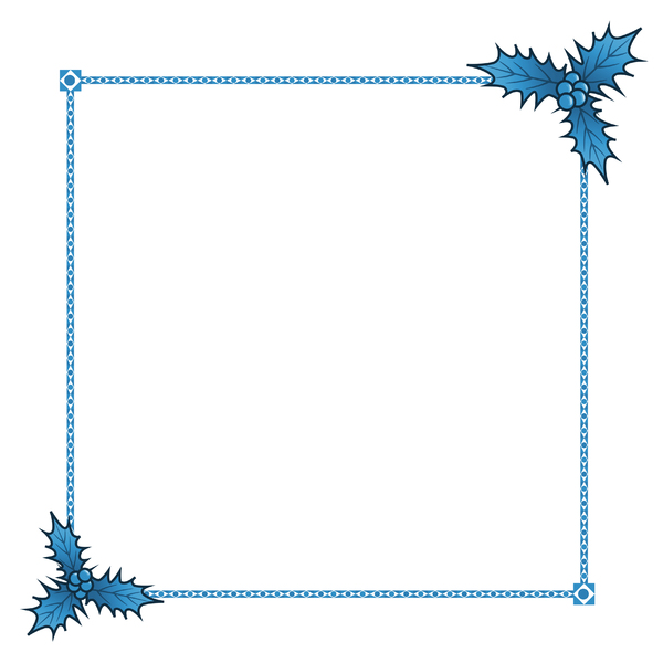 Holly Border 1: A festive border with a holly theme.
