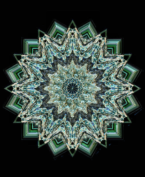 dark green glass mandala1