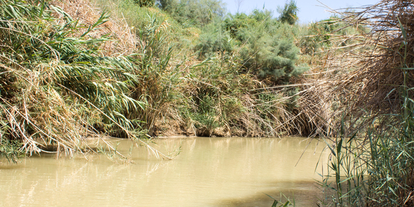Holy River: The Jordan River at the site where Jesus Christ was baptised