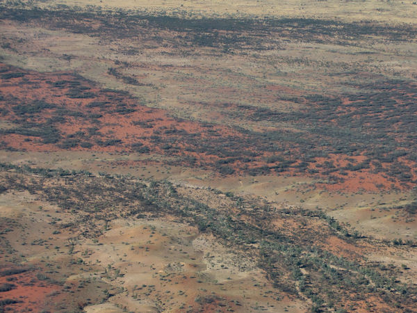 inland terrain34: central Australian terrain seen from above