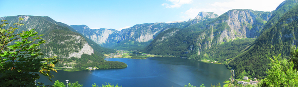 Austria mountain lake panorama