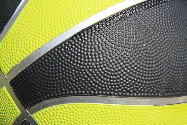 Basketball: Close-up view of a basketball