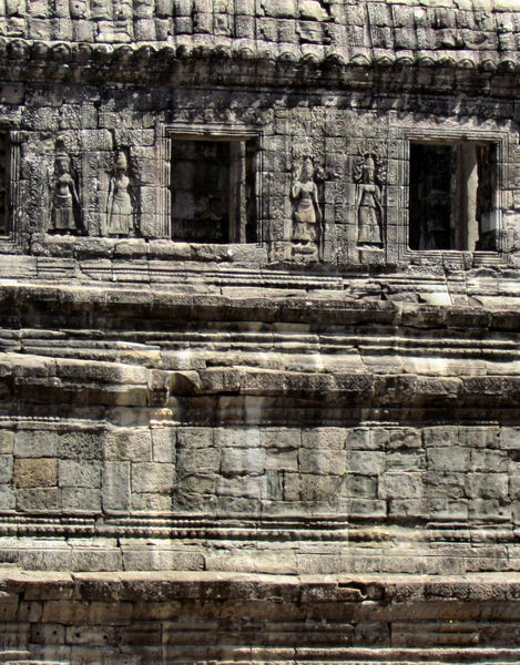 temple dancers10: artistic carvings of temple dancers at Cambodia's Angkor Wat temple complex