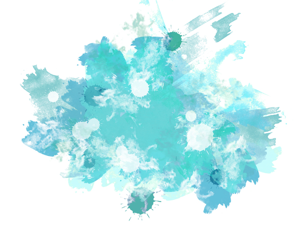 Abstract Splats 2: A grungy watercolour texture - digitally rendered.