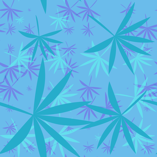Bamboo Leaves 3: A colourful backdrop, texture, pattern or fill with leaf shapes reminiscent of bamboo or marijuana.
