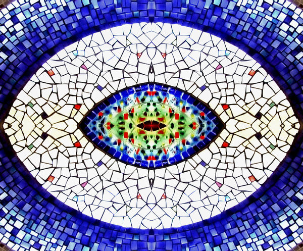 mosaic eye1: eye shaped mosaic display