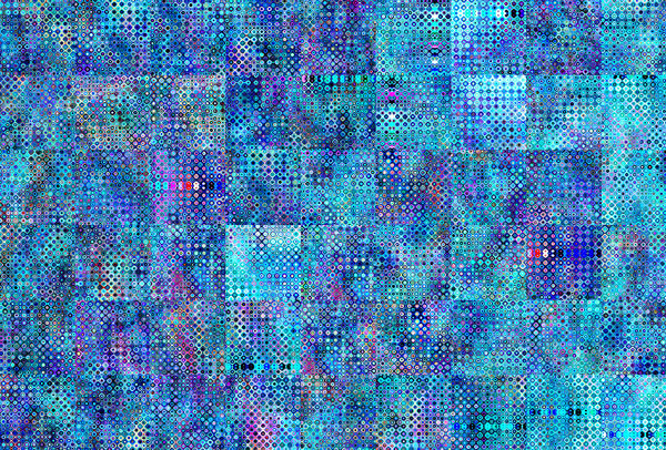 blue bubbled background square