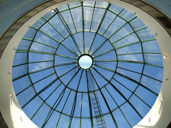 skylight circles1: architectural window and roofing arrangement