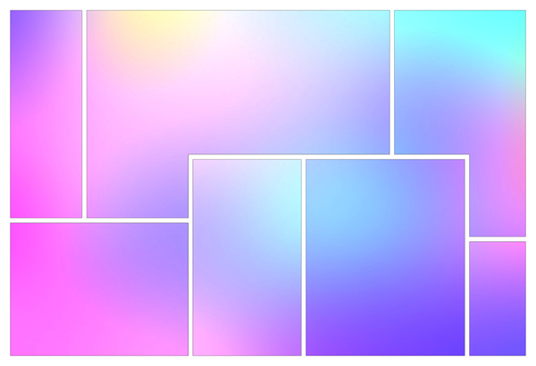 Pastel Gradient Panels: A group of panels with a pastel gradient background. You may prefer:  http://www.rgbstock.com/photo/n2UtdJe/Rainbow+Gradient+Background  or:  http://www.rgbstock.com/photo/mgZP6rW/Pastel+Background+New+2