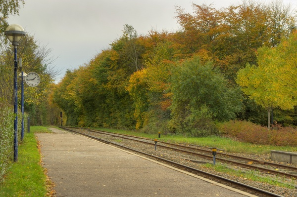 Autumn station - HDR