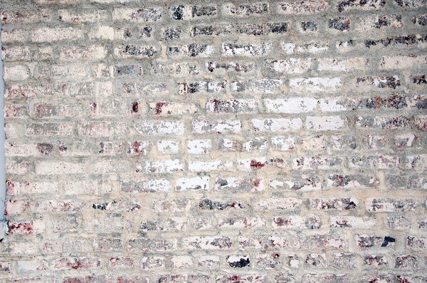 Whitewashed bricks