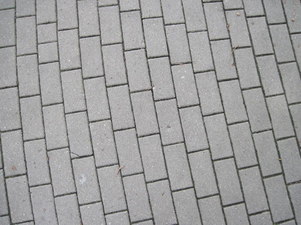 Pavement made of bricks