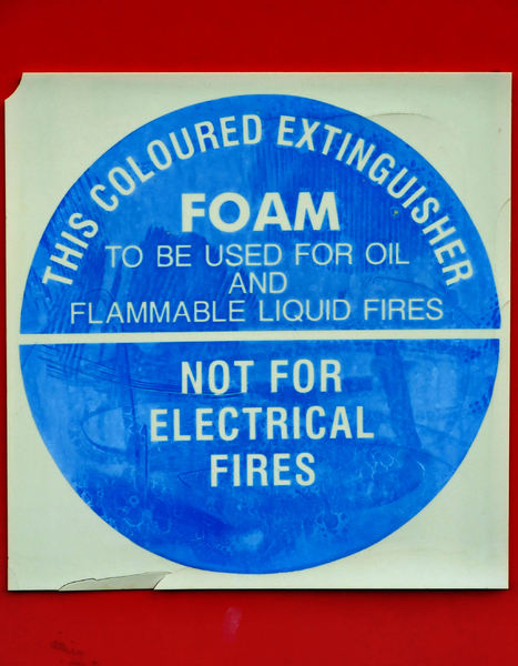 fire foam sign