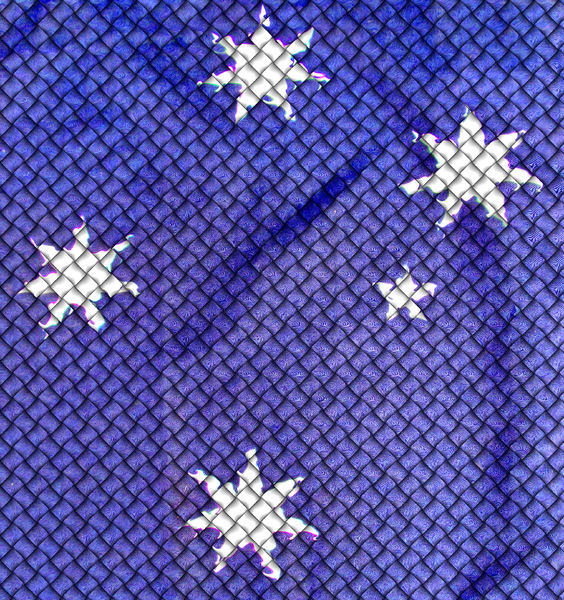 blue quilted Southern Cross