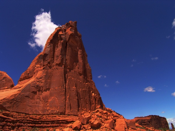 Arches National Park Utah: Red rock formation called