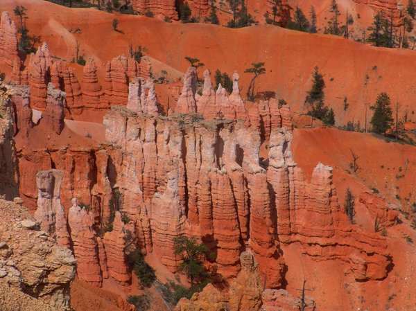 HooDoos: HooDoo Red Rock formation view from Inspirational Point, Bryce Canyon National Park, Bryce, Utah.  Springtime