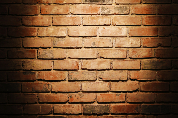 Spotlight on Brick Wall