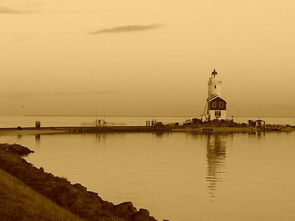Firehouse in Marken (sepia)