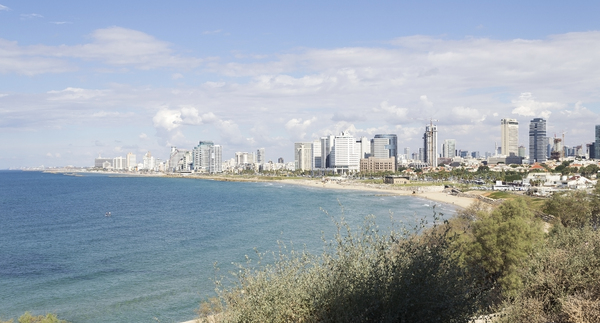 Israel city coastline