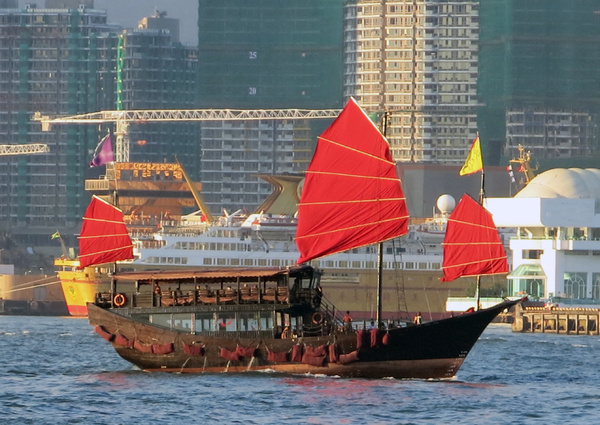 old asia ship