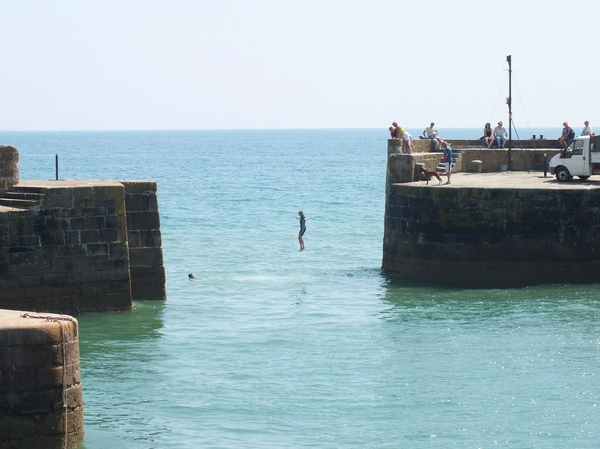 Sea jump at Charstown, UK