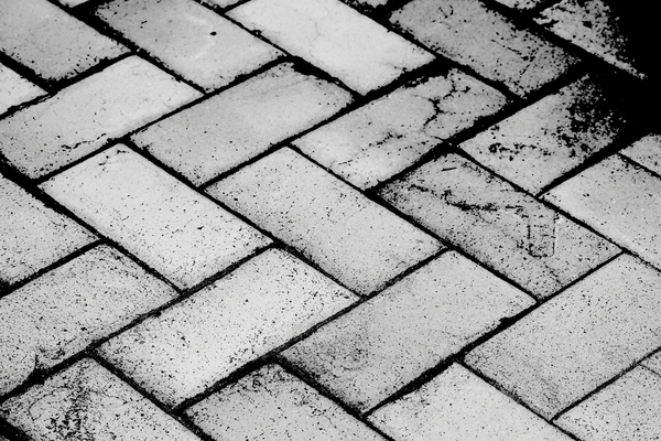 Black and White Pavers