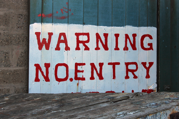 Warning Graffiti Art