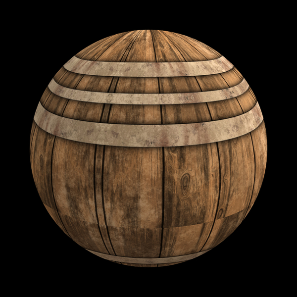 Barrel Ball: A ball made of timber slats and metal strips. You may prefer:  http://www.rgbstock.com/photo/oG7lPDs/Timber+Planks  or:  http://www.rgbstock.com/photo/orvIwWs/Wood+and+Metal