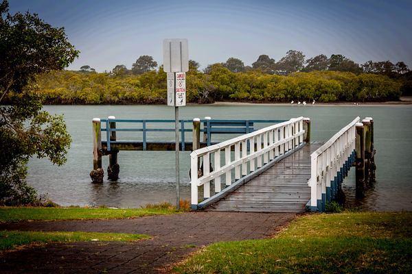 River Jetty: Jetty on the Tweed River Tweed Heads used for people to access boats when they tie up to it.