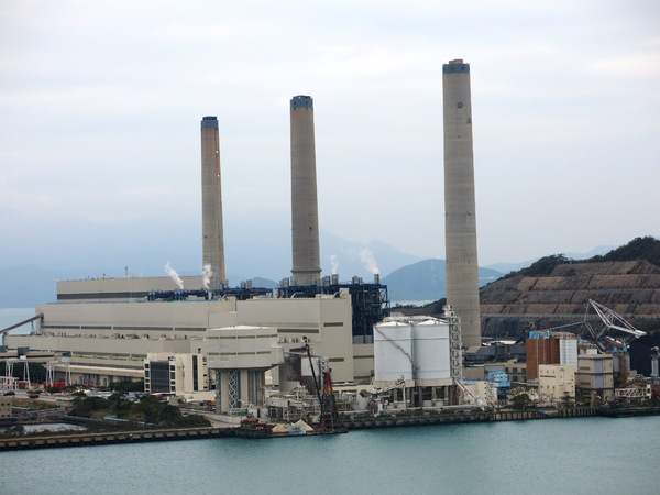 Coal burning power plant