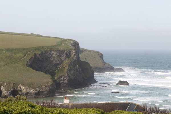 Coastline: Coastline of north Cornwall, England.