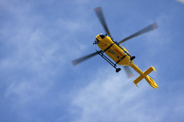 Yellow rescue helicopter 3