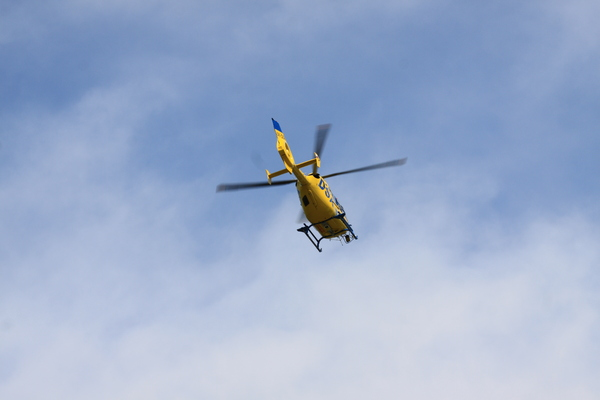Yellow rescue helicopter 1