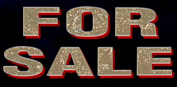 3-D for sale1: colorful 3-D 'for sale' sign