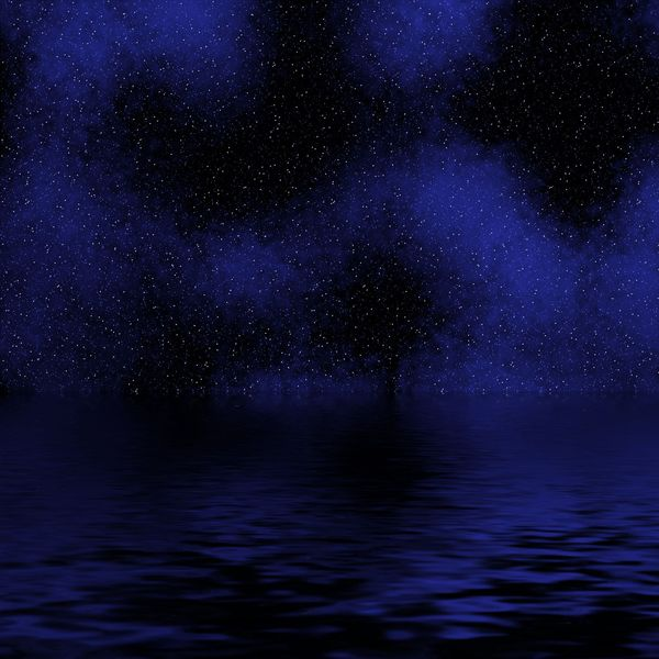 Star cloudy night background
