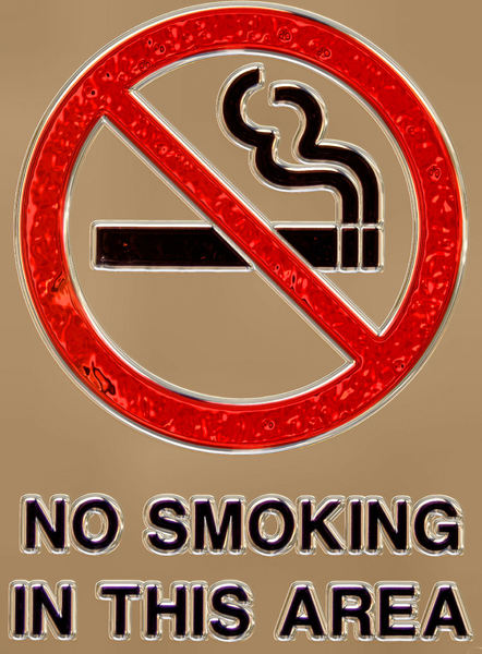 no smoking in 3-D 2