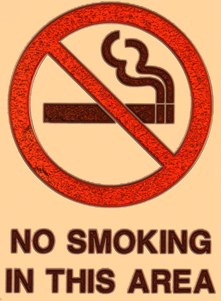 no smoking in 3-D