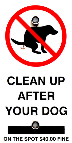 no doggy do2: dog owner's clean up rules