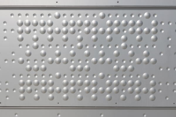 Modern architecture: A panel of a metal