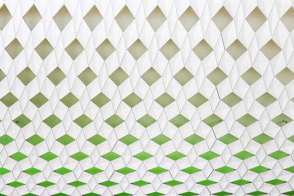 Pattern: A decorative wall in the new Opera House in Oslo, Norway. Photography at this site was freely permitted.