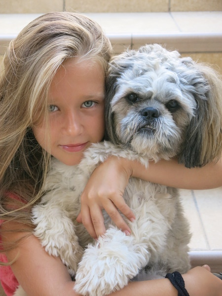 best friends 1: the little girl and her dog
