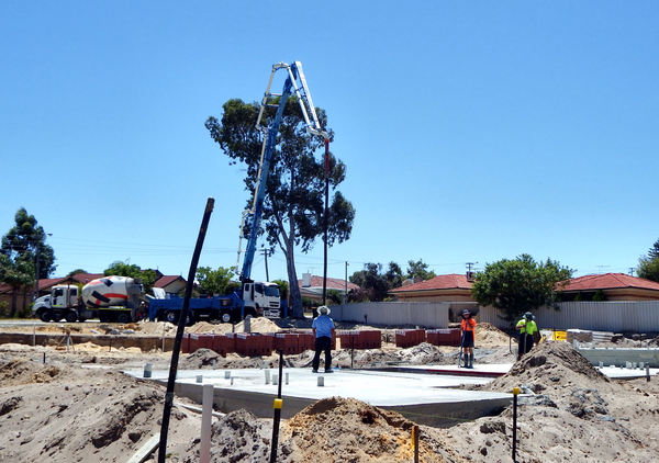 foundation construction work4: preparing, laying and levelling concrete foundation