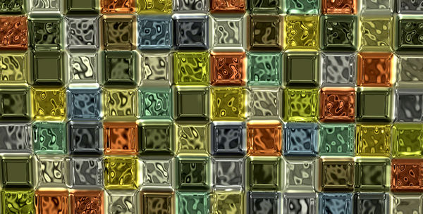 colored glass bricks wall1