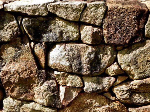rock wall7: free standing dry stone wall